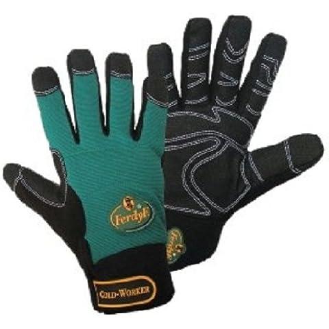 1 par FerdyF Guantes Mecanica Cold Worker Verde-Negro, Color:Green-Black;Size:S (7)