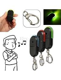 SLB Works Brand New New Wireless Anti-Lost Alarm Key Finder Locator Keychain Whistle Sound LED Light