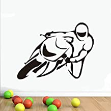 haotong11 Motocicleta Stunt Pegatinas de Pared Moto Cartel Tatuajes de Pared de Vinilo Nursery Art Wallpaper