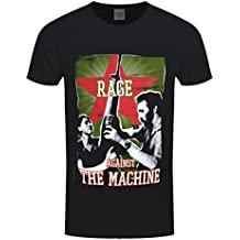 Rage Against The Machine Herren T-Shirt Gun Star Schwarz