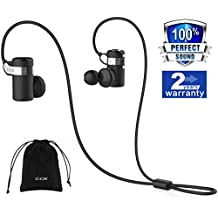 CCK KS Auriculares Bluetooth inalámbrico Auriculares Deportes Mejor Running Auriculares Hi-Fi estéreo cancelación de