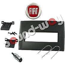 Marco embellecedor de radio, auto-radio, estéreo, con adaptador de 1DIN, para Fiat Stilo, color negro