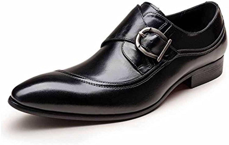 QINGMM Uomo British Pointed Oxford Metal Buckle Buckle Buckle Slip On scarpe Scarpe casual da uomo. Scarpe da uomo (Coloreee  ... | Stravagante  910719