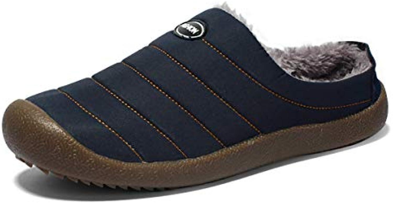 W&TT Pantofole in Cotone da da da Uomo Home Outdoor Scarpe di Cotone Antiscivolo più Velluto Caldo Inverno Scarpe Casa... | Impeccabile  | Maschio/Ragazze Scarpa  4c51ea