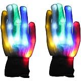 Vicloon LED Paire de Gants Lumineux / Coloré , LED Rave Eclairage Clignotant / Multi Couleur, ...