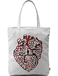 Dailyobjects Tote Bag Maze Heart Carry All Bag With Photo Quality Design, Made Of Polyester Canvas With Soft Poly-cotton...