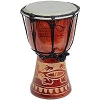40cm Große Djembe Trommel Bongo Drum Gecko Holz A3