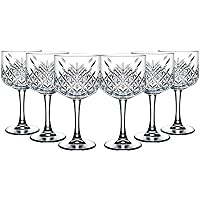 "Pasabahce 440237 Gin Cocktail Glas ""Timeless"" im Kristall-Design, Höhe ca. 20 cm, 6er Set aus Glas"