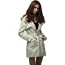Mujer de invierno de lana gruesa chaqueta con capucha larga chaqueta de viento cinturón chaqueta caliente