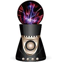 Magic Bola Electrostática Bluetooth Altavoz Magic Light Tacto Mini Altavoz Estéreo de Música Estéreo 3D , Black gold