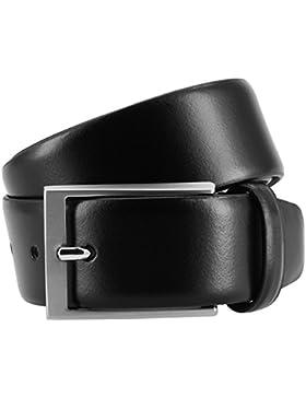 LINDENMANN- cinturón de cuero hombre xxl, cinturón de cuero de vaca en forma de bola con suave cuero de la guarnición...