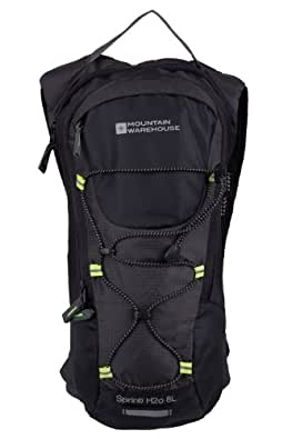 Mountain Warehouse Unisex Running Walking Sprint 2 Litre Hydro Hydration Water Backpack Bag Black One Size