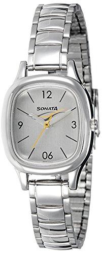 Sonata Analog Silver Dial Women's Watch (8060SM01)-NK8060SM01