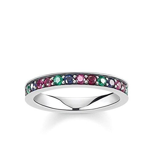 Thomas Sabo Damen-Ringe 925 Sterling Silber Künstliche Perle \'- Ringgröße 60 (19.1) TR2144-322-7-60