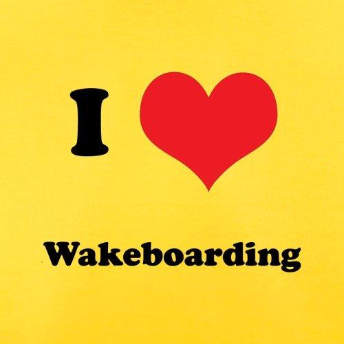 I Love Wakeboarding - Herren T-Shirt - 13 Farben Gelb