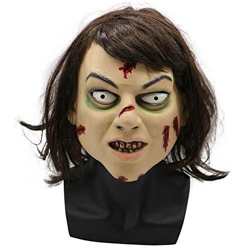 Halloween Horror weibliche Exorzist Hexe Set Weihnachten Karneval Maskerade Durchführung ganze Mann Tricks Maske