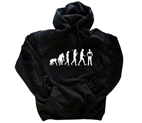 Shirtzshop Evolution Akkordeon Kapuzensweatshirt Hoody Schwarz XXXL