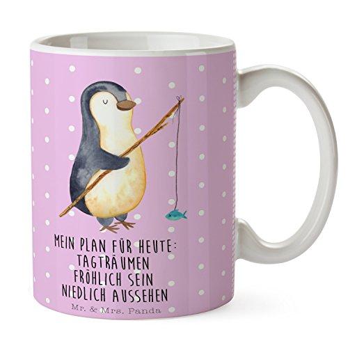 Mr. & Mrs. Panda Tasse Pinguin Angeler - 100% handmade in Norddeutschland - Cup, Tagträume,...