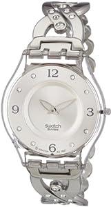 Reloj de mujer Swatch SKIN de cuarzo, correa de acero inoxidable color plata de Swatch