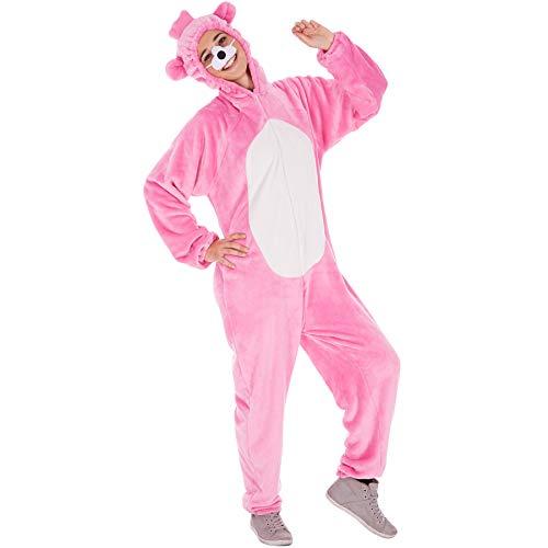 Kostüm Bärenoverall für Sie und Ihn | Aus weichem Plüschstoff | Ideal für Straßenumzüge | inkl. Nase mit Gummiband (Lila XL | Nr. 300880) ()