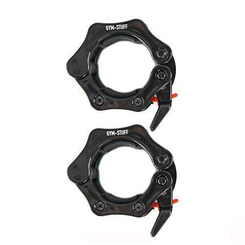 Protone - Abrazadera olímpica de 5 cm para levantamiento de pesas, negro