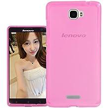 Prevoa ® 丨 Lenovo S856 Funda - Transparent Silicona TPU Protictive Carcasa Funda Case para Lenovo S856 - 5.5 Pulgada Smartphone - Rosa