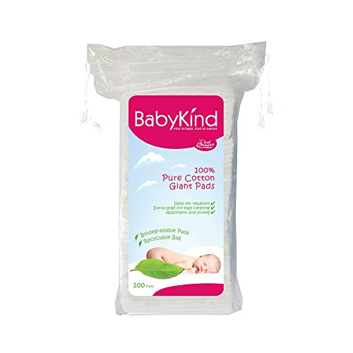 Baby Kind 4187 Coussinets en Coton - Lot de 6 x 100 units (600 units)