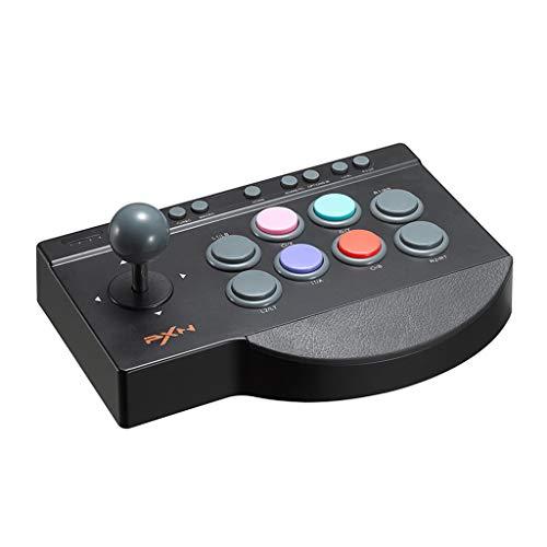 Fcostume Arcade Joystick Game Controller Videospiel Für Android Windows PS3 / PS4-Switch (Schwarz) -