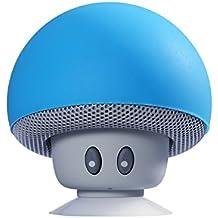 CAHAYA Mini Altavoz Pórtatil Estéreo Forma de Seta Inalámbrico con Ventosa para Smartphone/Coche/Tablet (PC) Color Azul