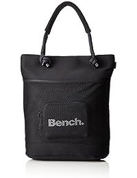 Bench Damen Mesh Neopren Shopper Handtasche, Black Beauty, 40.6 x 36 x 6.4 cm