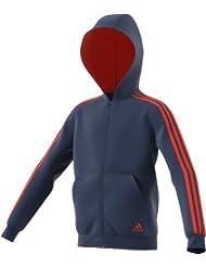 Adidas YB 3S FZ Hood Sudadera, Niñas, Azul (Azumis), 128