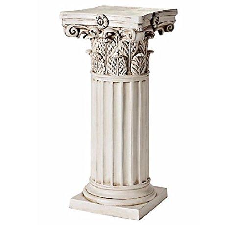Dekosäule aus Kunststein Antik Design Säule Beistelltisch Blumenhocker NEU