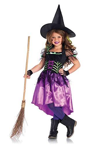 Kostüm Leg Kinder Avenue - Leg Avenue Kinder Mädchen Kostüm Glänzendes Hexenkostüm L 10-12 Jahre