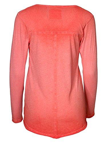 DAILY'S KAJA cold pigment dyed Damen Langarmshirt mit Rundhalsausschnitt aus Bio-Baumwolle - soziale fair trade Kleidung, Mode vegan und nachhaltig Color red-kiss, Size S - 2