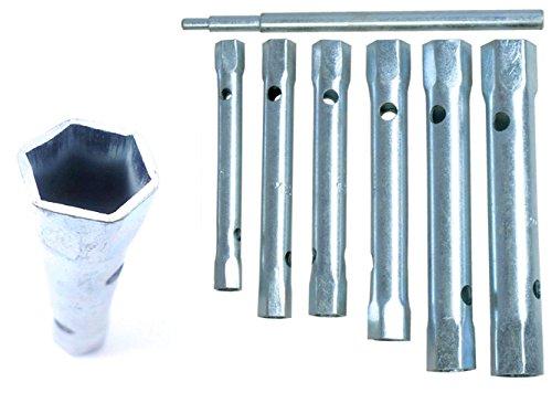 UKDABZZ Jeu de 6 clés tubulaires métriques 6–17 mm