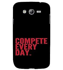 PrintVisa Quotes Design 3D Hard Polycarbonate Designer Back Case Cover for Samsung Galaxy Grand