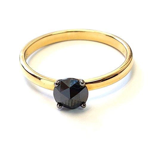 BuyFineDiamonds - Gold 18 Karat (750) 18 Karat (750) Gelbgold Brilliant Rund Black Diamant