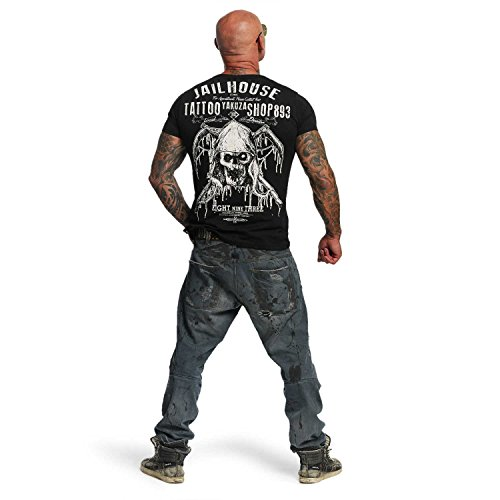 Yakuza Original Herren Tattoo Shop T-Shirt Schwarz