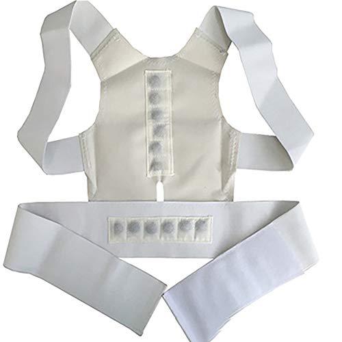 FCDYL-W Haltung-korrektor für Frauen männer Bandage für die Schulter gürtel, Komfortable obere hintere Klammer schlüsselbein unterstützung,Oberen rücken entlastet & Schultern Schmerzen-Weiß XL