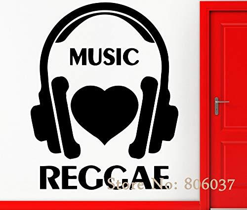 Abnehmbare Musikalische Wandaufkleber Vinyl Aufkleber Musik Ich Liebe Reggae Cool Rock Pop Decor Wohnkultur Wand tapeten 35X42 cm - Doodle-pop-art
