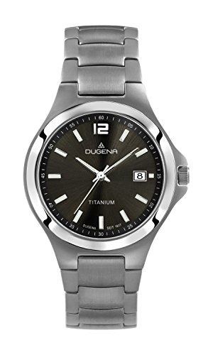 Dugena Herren-Armbanduhr Titanuhren Analog Quarz Titan 4460531