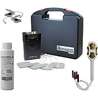 Electroestimulador TENS 4 programas, más electrodos, sonda vaginal oro, pinzas electroestimuladoras y gel de contacto