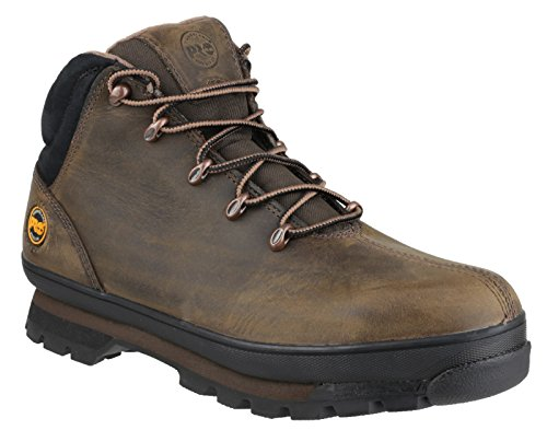 Timberland Mens Splitrock PRO Lace up Leather Work Safety Boot Marron