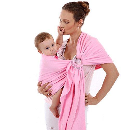 ThreeH Babytragetuch 100% organische Baumwolle Pflegeabdeckung Decke BC14,Pink