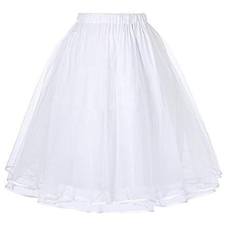 50s Rockabilly Tutu Skirt Petticoat Tutu Skirt Weiss M BP229-2 (Region 10 Kostüm)