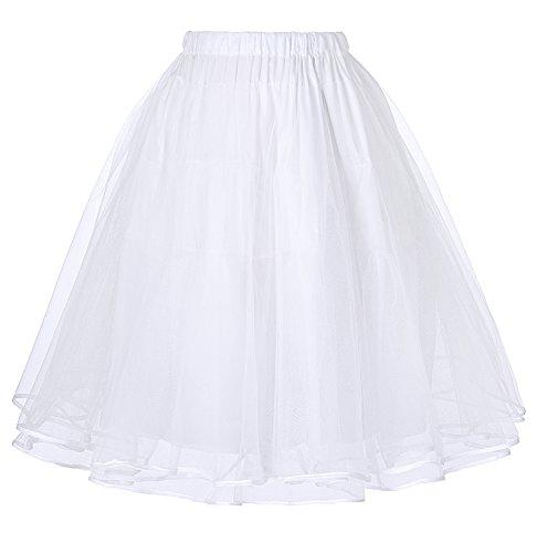 Belle Poque Damen S Petticoat Krinoline 50 Weihnachts Tutu Unterröcke (2 Ebenen) weiß 229 2 groß -