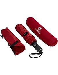 Regenschirm Taschenschirm – VAN BEEKEN – windtest bei 140 km/h – inkl. Schirm-Tasche & Reise-Etui – mit Teflon-Beschichtung u. Auf-Zu-Automatik – kompakt, leicht, klein, stabil u. windsicher