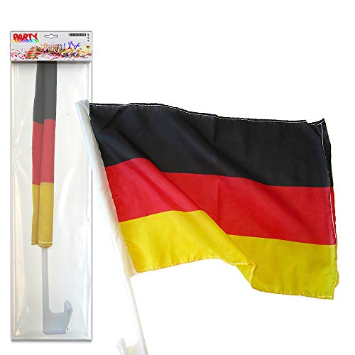 PARTY DISCOUNT ® Autofahne Autoflagge Deutschland 30 x 45 cm