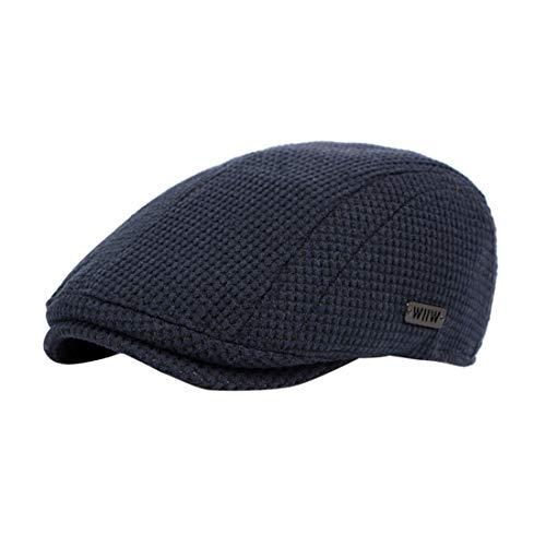 besbomig Herbst Winter Flatcap Schiebermütze für Damen und Herren - Bequem Elegant Cabbie Hat Golfer Hunter Cap 56-59cm