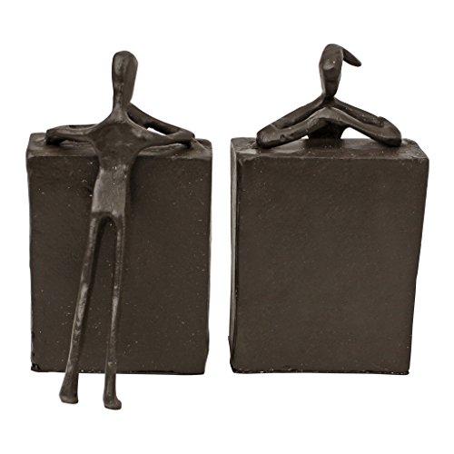 Bücherstützen aus Eisenguß